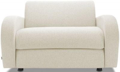 Jay-Be Retro Deep Sprung Mattress Chair Sofa Bed - Cream Fabric