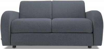 Jay-Be Retro Deep Sprung Mattress 2 Seater Sofa Bed - Denim Fabric