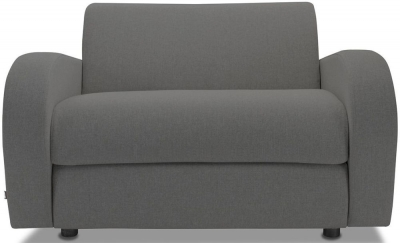 Jay-Be Retro Deep Sprung Mattress Chair Sofa Bed - Slate Fabric