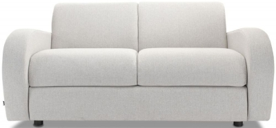 Jay-Be Retro Deep Sprung Mattress 2 Seater Sofa Bed - Stone Fabric