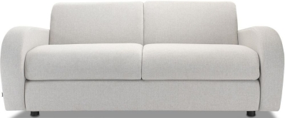 Jay-Be Retro Deep Sprung Mattress 3 Seater Sofa Bed - Stone Fabric