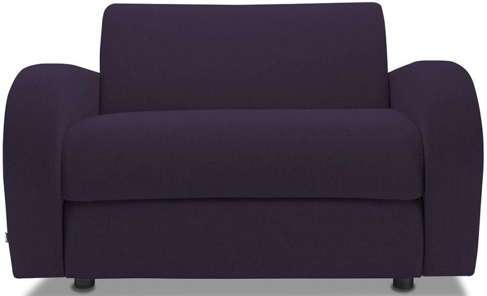 Jay-Be Retro Aubergine Sofa Bed Chair With Deep Sprung Mattress