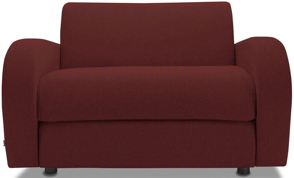 Jay-Be Retro Berry Sofa Bed Chair With Deep Sprung Mattress
