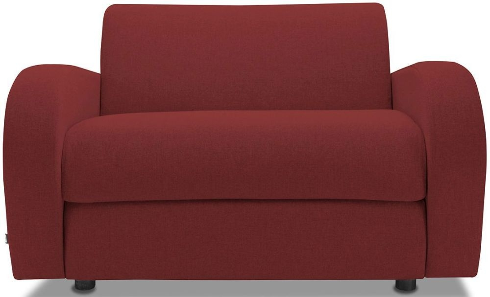 Jay-Be Retro Cranberry Sofa Bed Chair With Deep Sprung Mattress