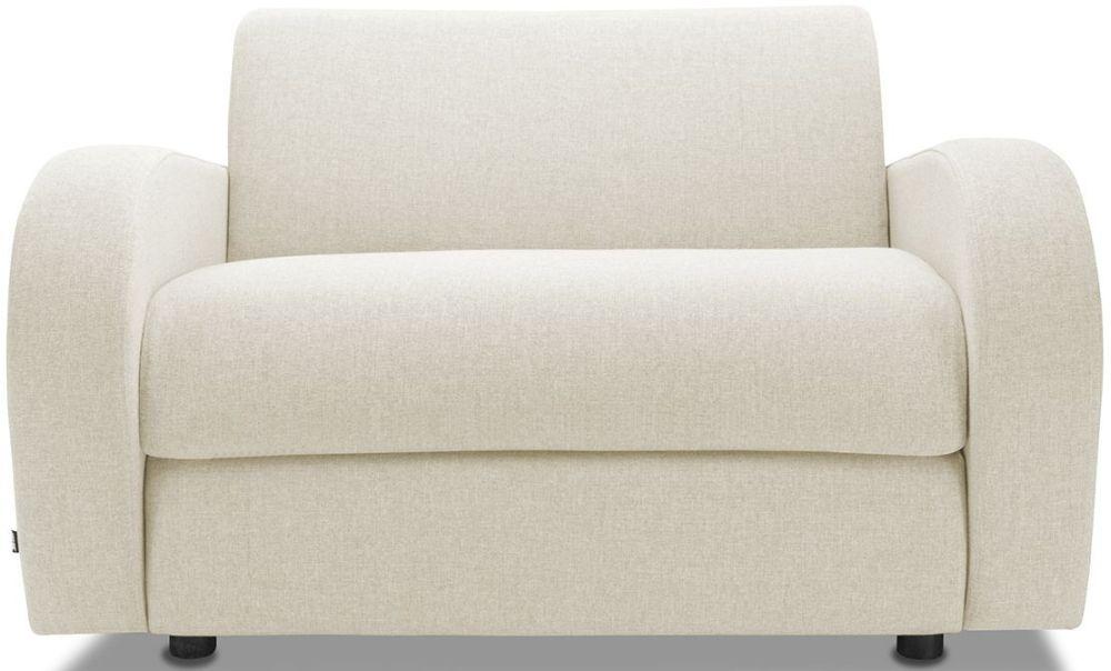 Jay-Be Retro Deep Sprung Mattress Chair Sofa Bed - Cream Fabric