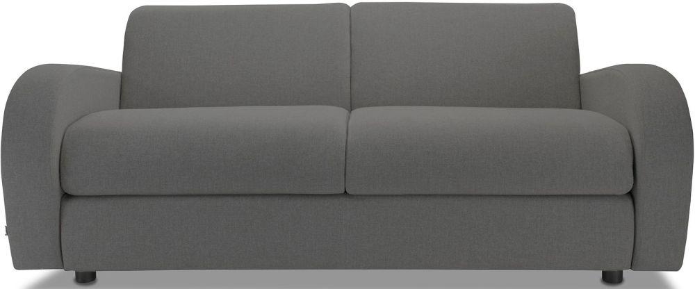 Jay-Be Retro Deep Sprung Mattress 3 Seater Sofa Bed - Slate Fabric