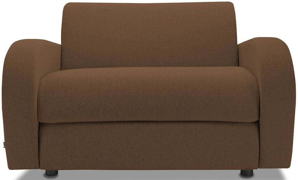Jay-Be Retro Tan Sofa Bed Chair With Deep Sprung Mattress