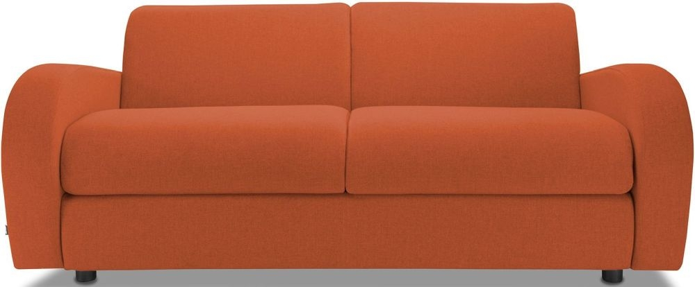 Jay-Be Retro Terracotta 3 Seater Sofa Bed with Deep Sprung Mattress