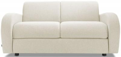 Jay-Be Retro Luxury Reflex Foam 2 Seater Sofa - Cream Fabric