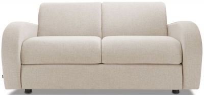 Jay-Be Retro Luxury Reflex Foam 2 Seater Sofa - Mink Fabric