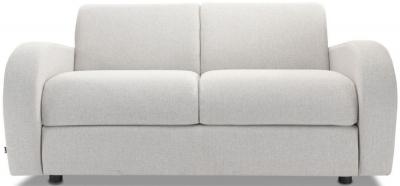 Jay-Be Retro Luxury Reflex Foam 2 Seater Sofa - Stone Fabric