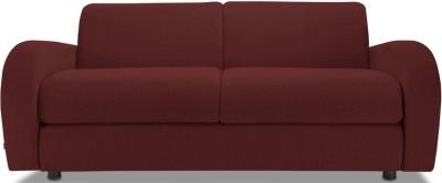 Jay-Be Retro Luxury Reflex Foam 3 Seater Sofa - Berry Fabric