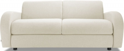Jay-Be Retro Luxury Reflex Foam 3 Seater Sofa - Cream Fabric