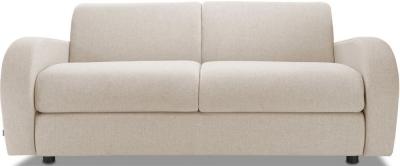 Jay-Be Retro Luxury Reflex Foam 3 Seater Sofa - Mink Fabric