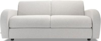 Jay-Be Retro Luxury Reflex Foam 3 Seater Sofa - Stone Fabric