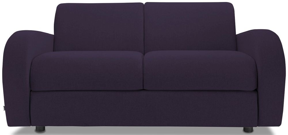 Jay-Be Retro Aubergine 2 Seater Sofa with Luxury Reflex Foam Seat Cushions