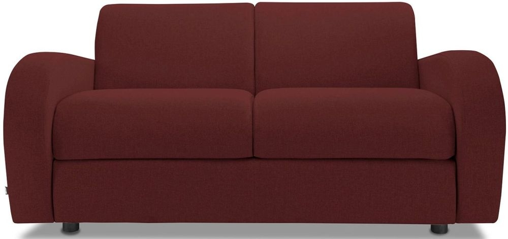 Jay-Be Retro Berry 2 Seater Sofa with Luxury Reflex Foam Seat Cushions