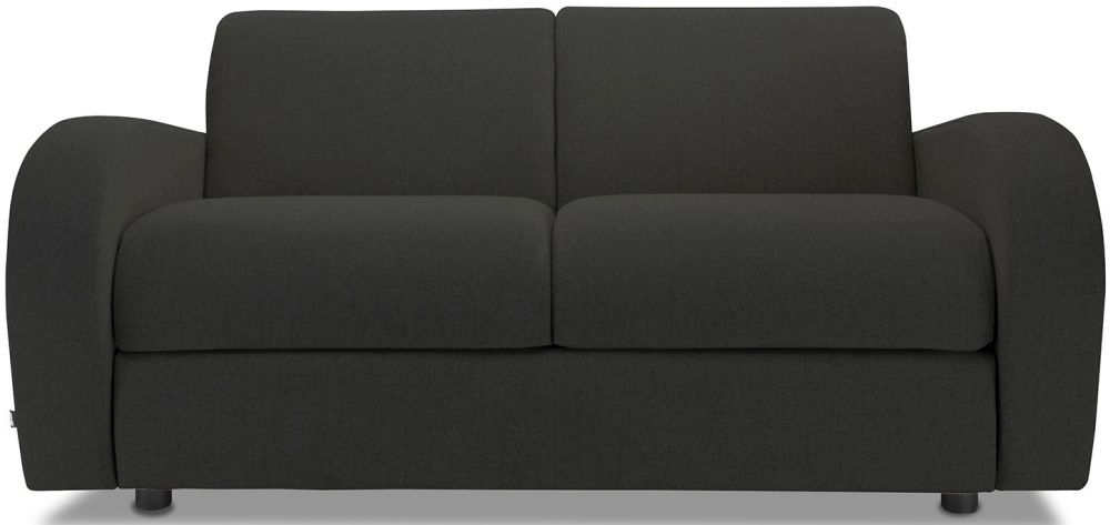 Jay-Be Retro Charcoal 2 Seater Sofa with Luxury Reflex Foam Seat Cushions