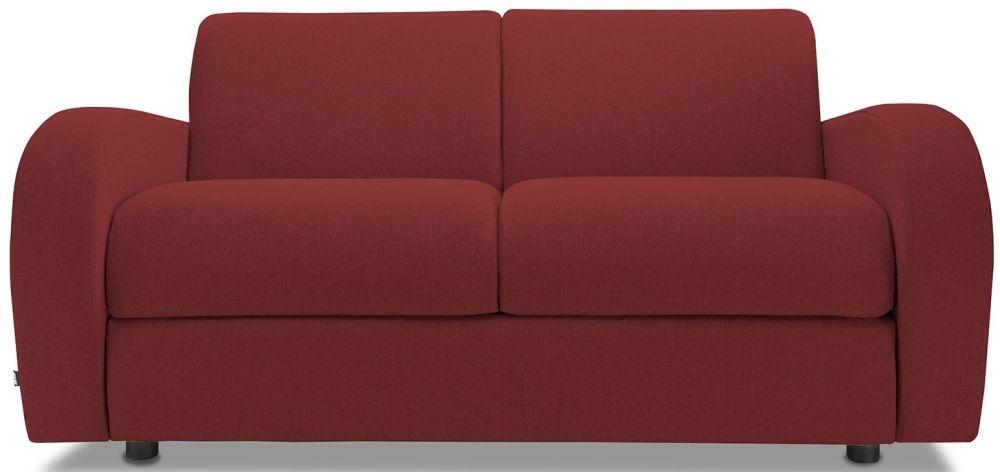 Jay-Be Retro Cranberry 2 Seater Sofa with Luxury Reflex Foam Seat Cushions