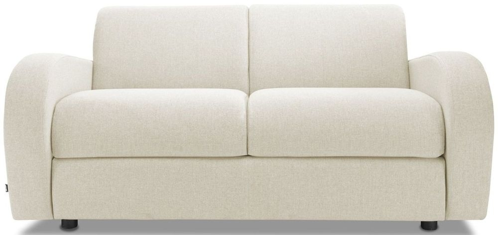 Jay-Be Retro Cream 2 Seater Sofa with Luxury Reflex Foam Seat Cushions