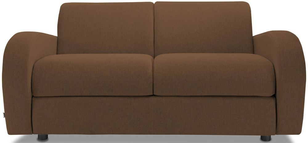 Jay-Be Retro Tan 2 Seater Sofa with Luxury Reflex Foam Seat Cushions