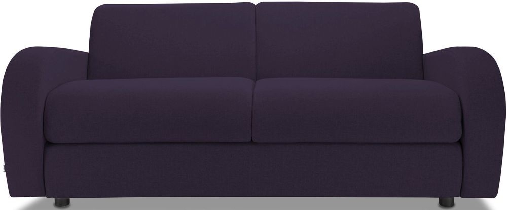 Jay-Be Retro Aubergine 3 Seater Sofa with Luxury Reflex Foam Seat Cushions