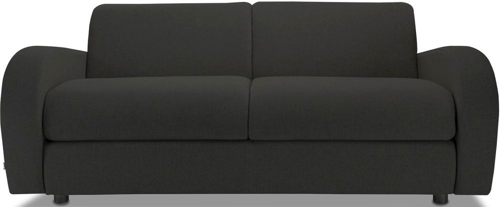 Jay-Be Retro Charcoal 3 Seater Sofa with Luxury Reflex Foam Seat Cushions