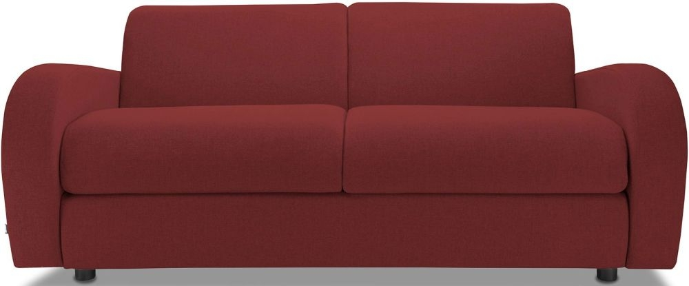 Jay-Be Retro Cranberry 3 Seater Sofa with Luxury Reflex Foam Seat Cushions