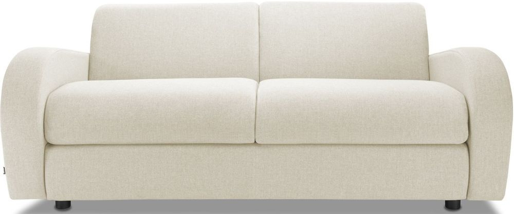 Jay-Be Retro Cream 3 Seater Sofa with Luxury Reflex Foam Seat Cushions