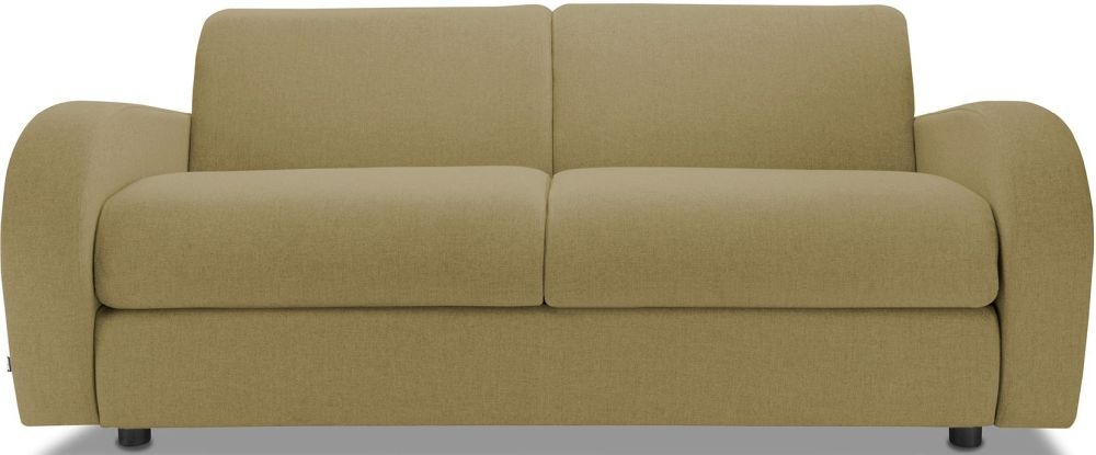 Jay-Be Retro Olive 3 Seater Sofa with Luxury Reflex Foam Seat Cushions
