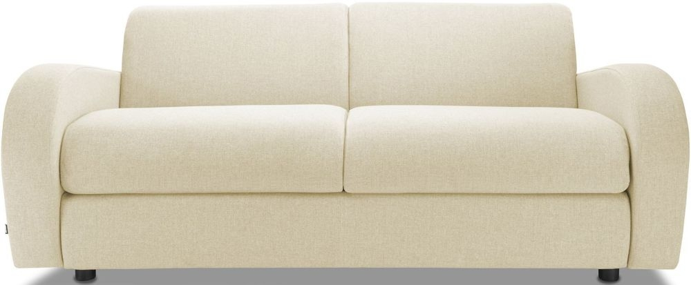 Jay-Be Retro Sand 3 Seater Sofa with Luxury Reflex Foam Seat Cushions