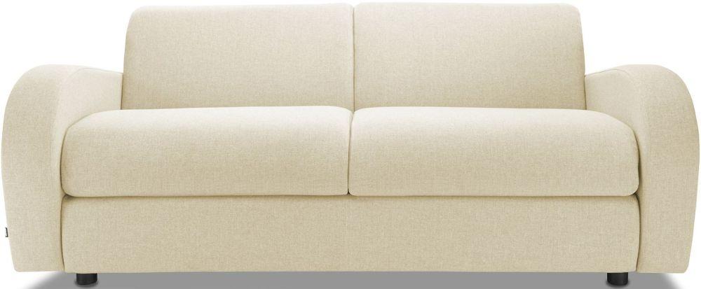 Jay-Be Retro Sand 3 Seater Sofa with Luxury Reflex Foam Seat Cushions