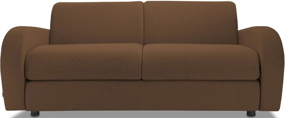 Jay-Be Retro Tan 3 Seater Sofa with Luxury Reflex Foam Seat Cushions