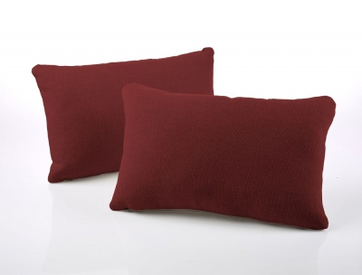 Jay-Be Rectangular Cranberry Scatter Cushion (Pair)