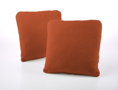 Jay-Be Square Terracotta Scatter Cushion (Pair)