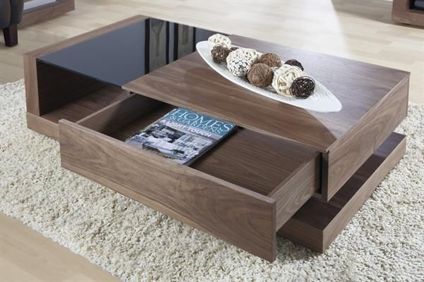 Jual Cube Walnut Coffee Table JF613CT
