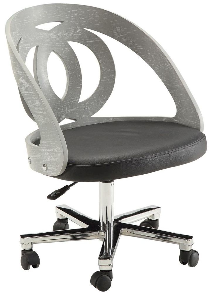 Jual Curve Grey Office Chair PC606 thumbnail