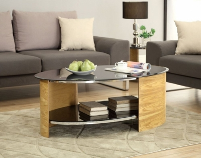 Jual Curve Oak Coffee Table JF301