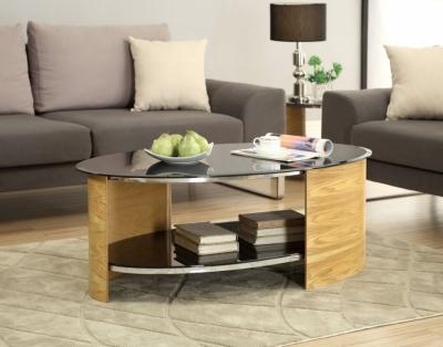 Jual Curve Oak Coffee Table JF301
