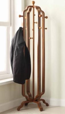 Jual Curve Walnut Coat Stand JF505