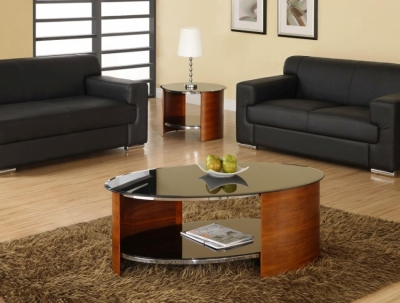 Jual Curve Walnut Coffee Table JF301
