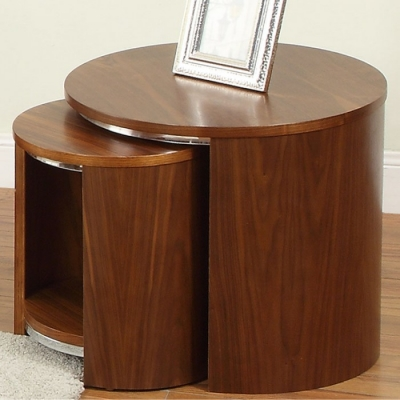 Jual Curve Walnut Nest of Table - Wood JF306