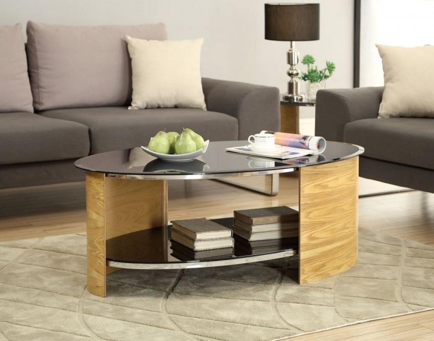 Buy jual curve oak coffee table jf301 online cfs uk for Oak coffee table