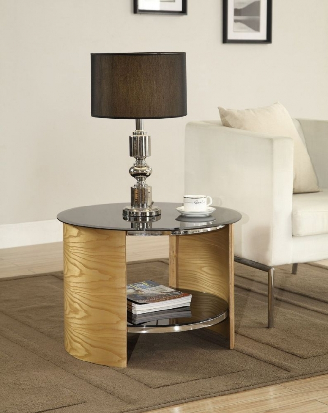 Jual Curve Oak Lamp Table JF303