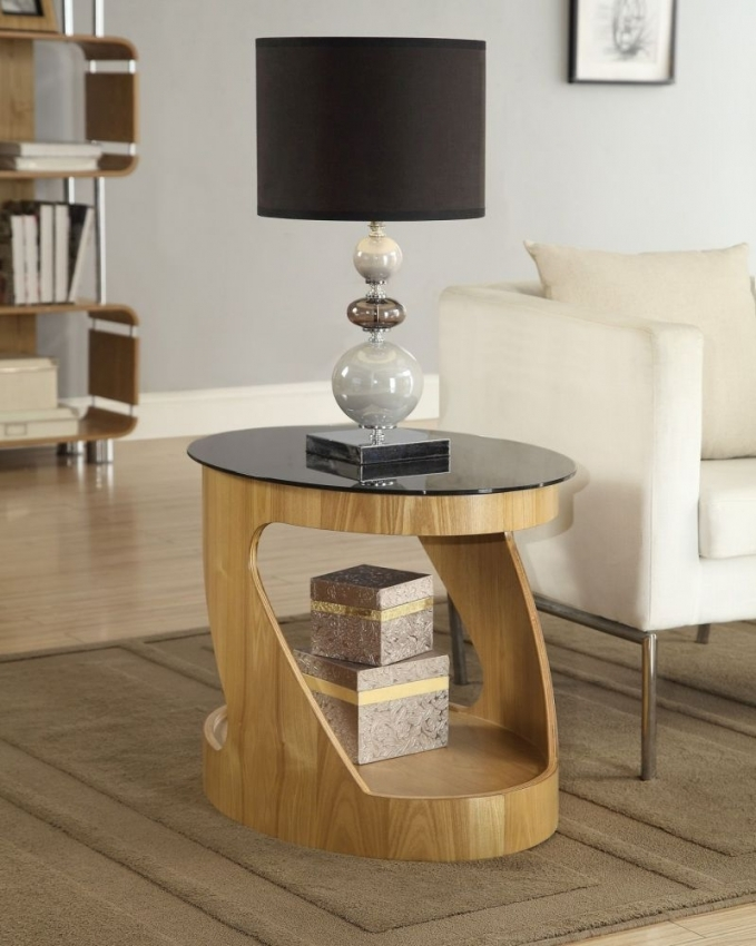 Jual Curve Oak Lamp Table JF304
