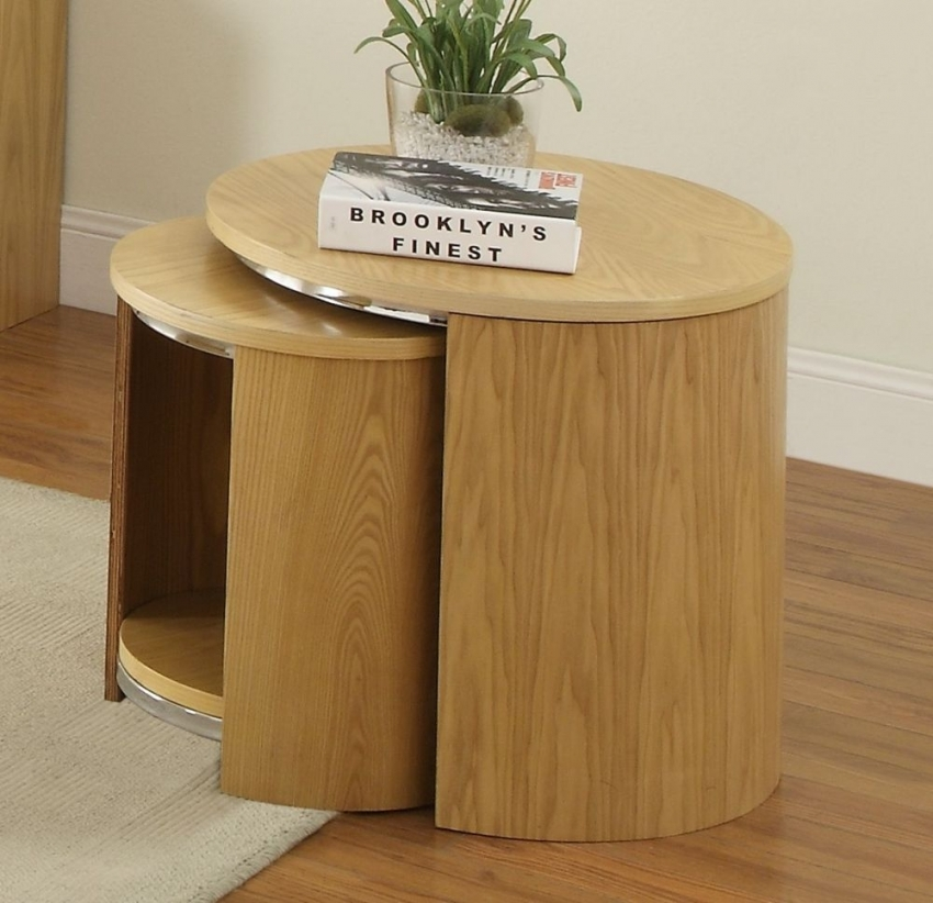 Jual Curve Oak Nest of Table - Wood JF306