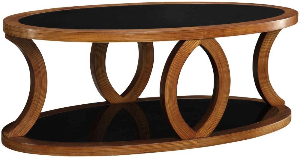 Jual Curve Walnut Coffee Table JF102