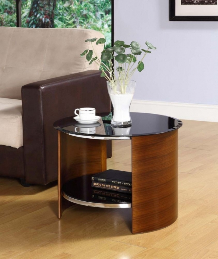 Jual Curve Walnut Lamp Table JF303