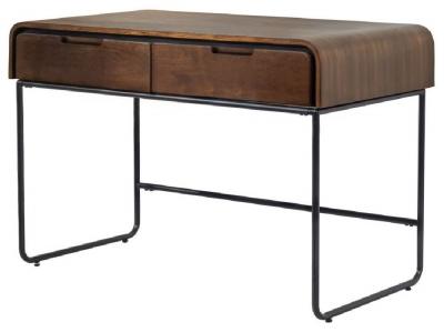 Jual Manhattan Walnut 2 Drawer Tube Desk PC204