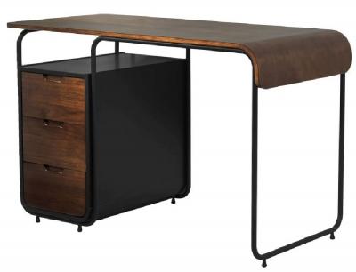 Jual Manhattan Walnut 3 Drawer Tube Desk PC202